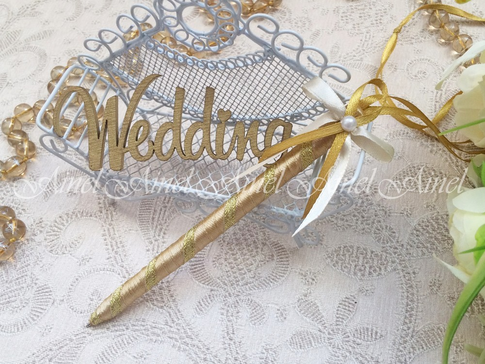 """Свадебная ручка """"Камея золото"""""""