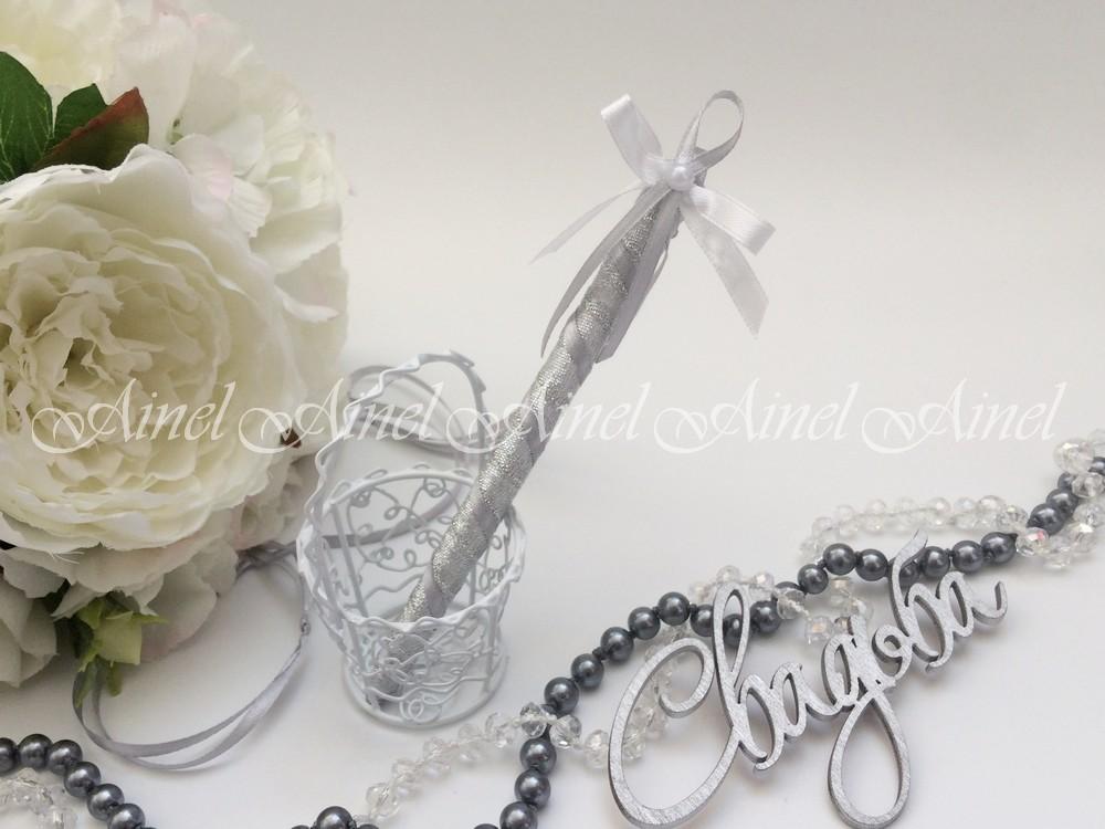 """Свадебная ручка """"Камея серебро"""""""