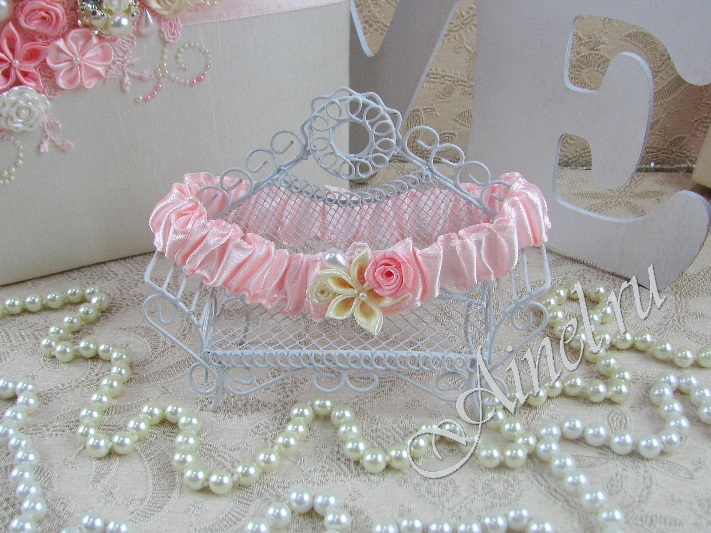 """Подвязка невесты свадебная """"Романтика"""" узкая"""