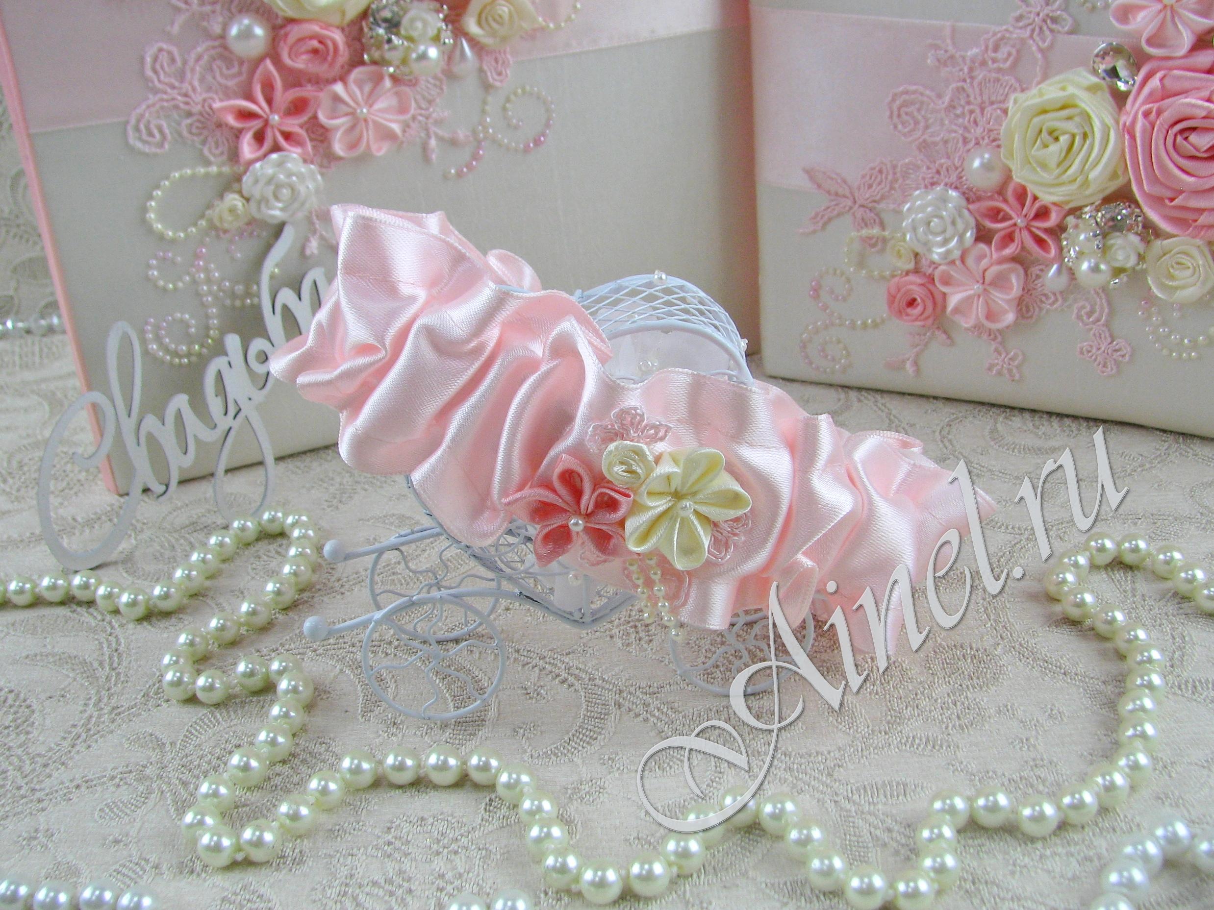 """Подвязка невесты свадебная """"Романтика"""" широкая"""