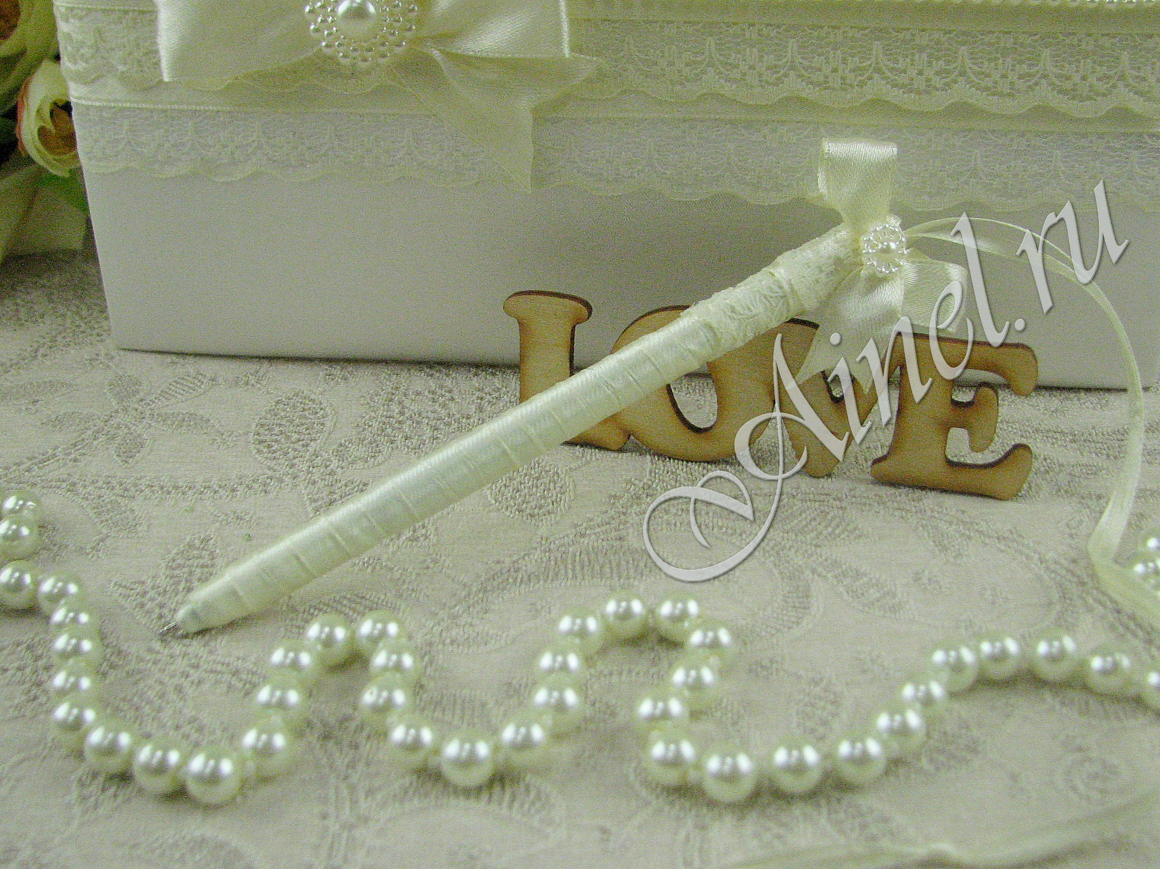 """Свадебная ручка """"Маркиза"""" айвори"""