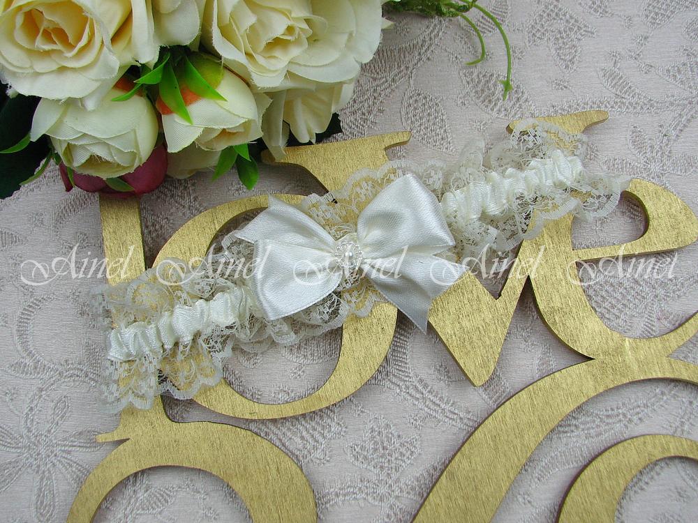"""Подвязка невесты свадебная """"Маркиза"""" айвори"""