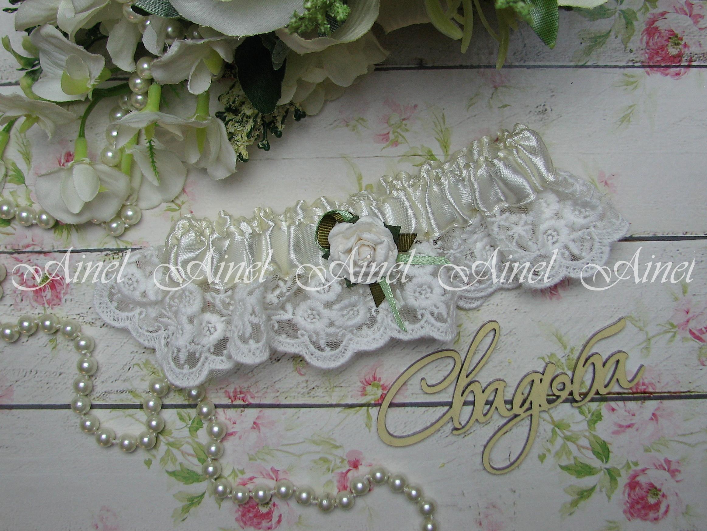 """Подвязка невесты свадебная """"Цветочная симфония"""""""