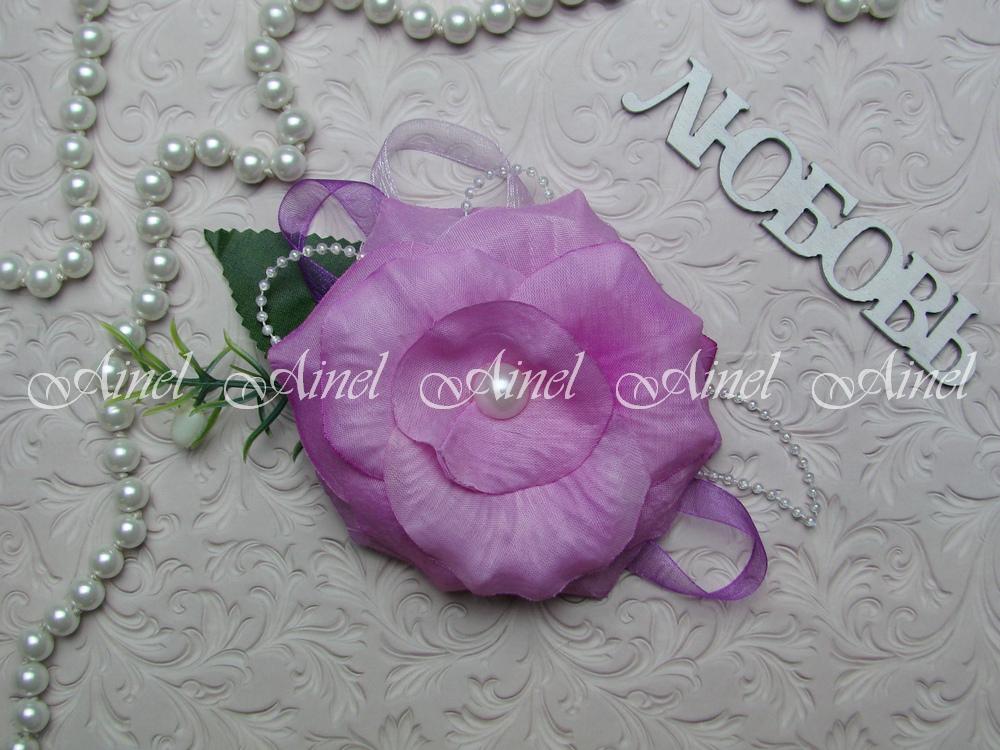 Бутоньерка свадебная для жениха №23 розовый цветок