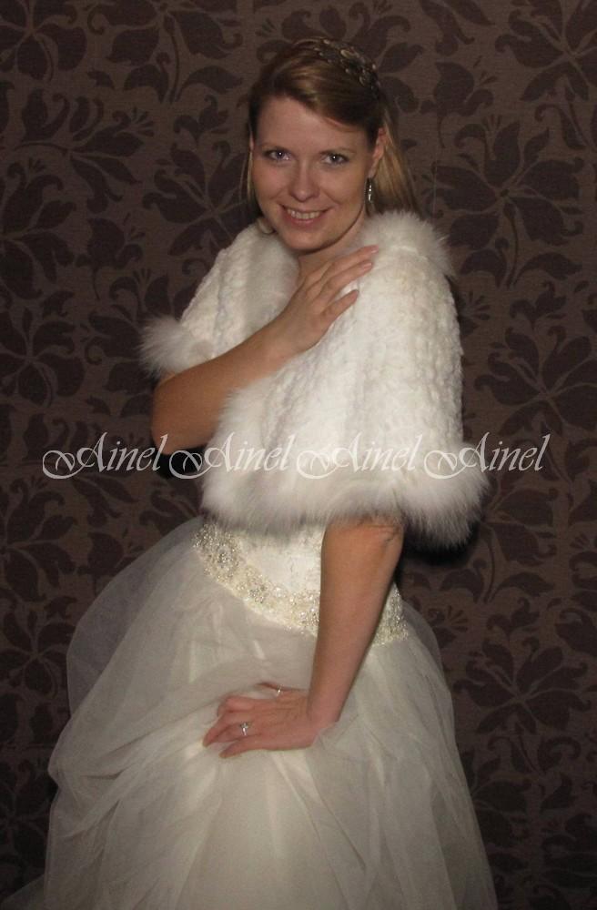 Свадебная накидка №65 для невесты напрокат