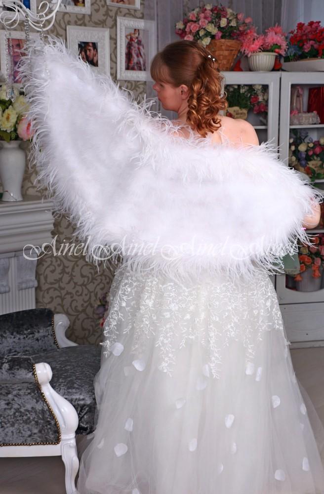 Свадебная накидка №104 для невесты прокат