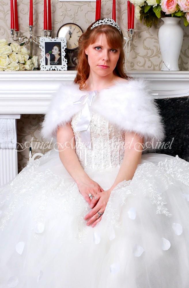 Свадебная накидка №106 для невесты напрокат
