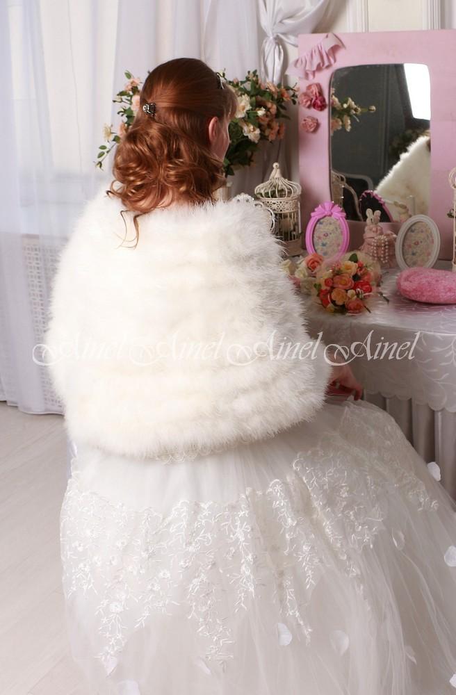 Свадебная накидка №107 для невесты напрокат