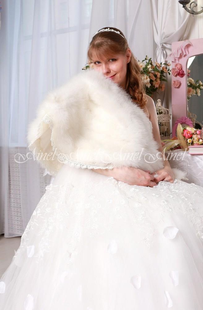 Свадебная накидка №107 для невесты в прокат