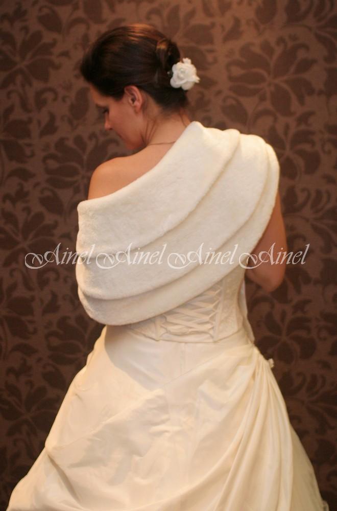 Свадебная горжетка №25 для невесты в прокат