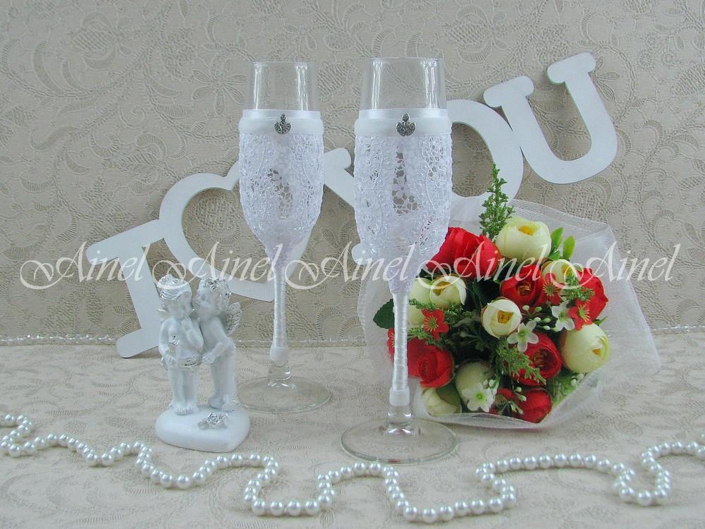 """Бокалы свадебные для молодоженов """"Адель"""""""