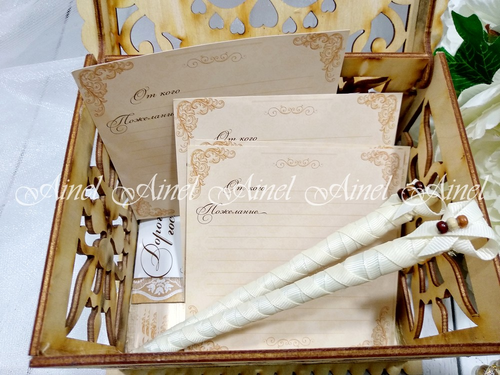 """Коробка для пожеланий на свадьбу """"Голуби"""""""