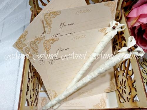 """Коробка для пожеланий на свадьбе """"Орнамент"""""""