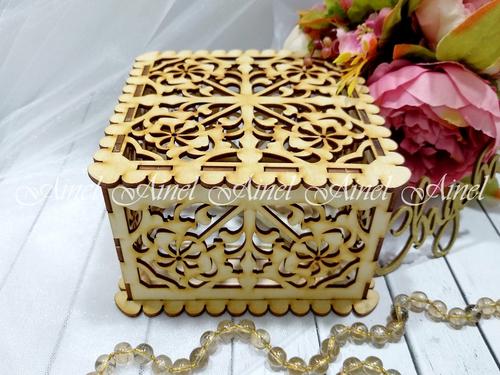"""Свадебная коробка для пожеланий """"Орнамент"""" дерево"""