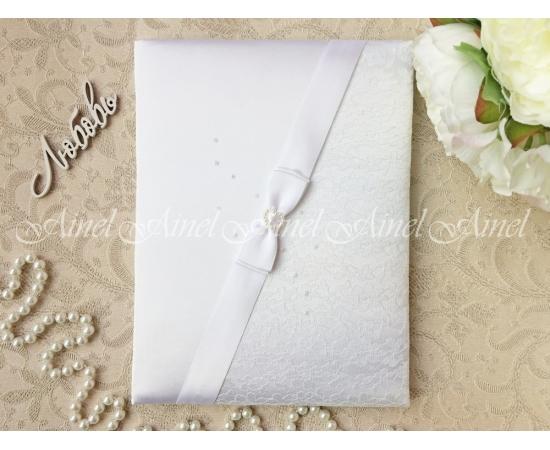 Свадебная папка для свидетельства о браке «Белая вуаль»