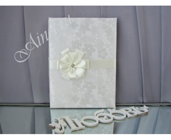 Свадебная папка для свидетельства о браке «Снежный цветок»