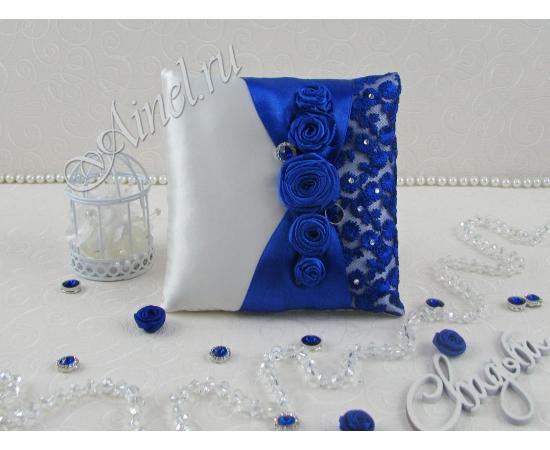 Свадебная подушечка для обручальных колец «Индиго»