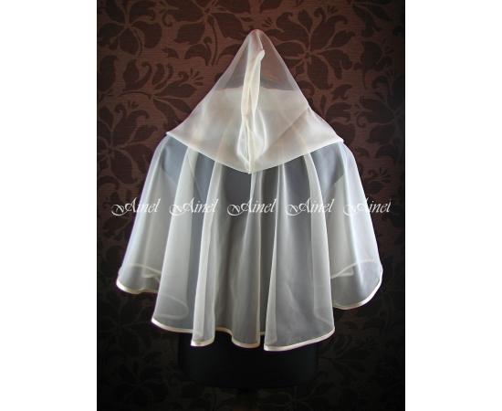 Венчальный платок №3 Шифон айвори