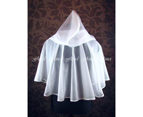 Венчальный платок №3 Шифон белый