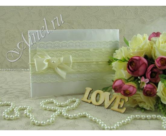 Свадебная папка для свидетельства о браке «Маркиза» айвори