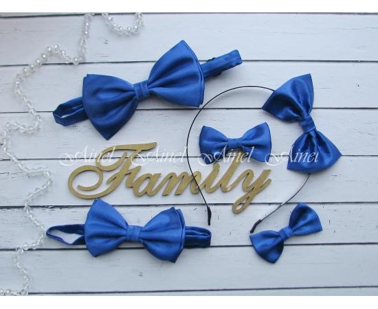 Аксессуары для семейной фотосессии Family Look №2 бабочки синие