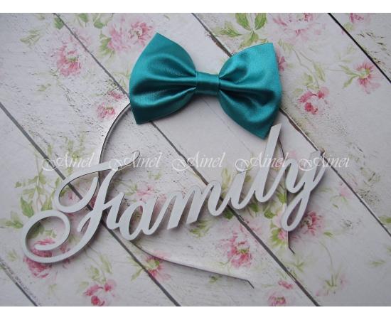 Бабочка на обруче для семейной фотосессии Family Look  №4 бабочки бирюзовые