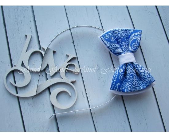 Бабочка на обруче для семейной фотосессии Family Look  №11 бабочки сине-белые