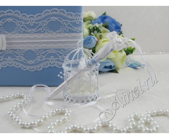 """Свадебная ручка """"Орлеан"""" голубая"""