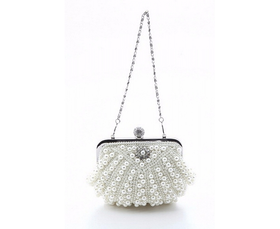 Свадебная сумочка жемчуг ракушка белая