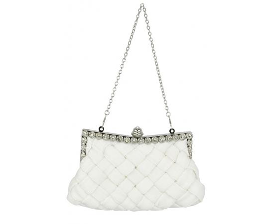 Свадебная сумочка плетенка белая