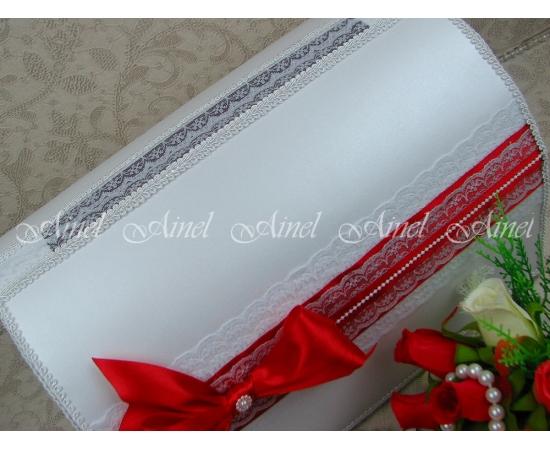"""Свадебная коробка для денег """"Маркиза"""" красная ручной работы"""