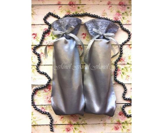Мешочки для битья бокалов на свадьбу №7 Серебро