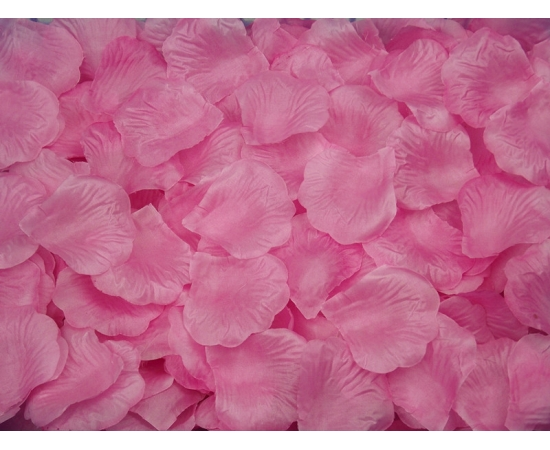 Искусственные лепестки роз из ткани Светло-розовые 300 шт