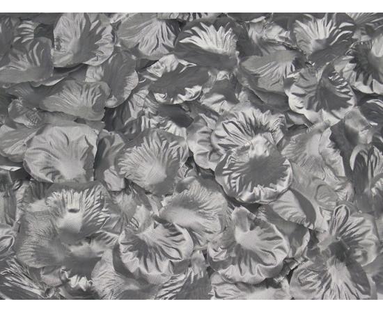Искусственные лепестки роз из ткани Серебряные 300 шт