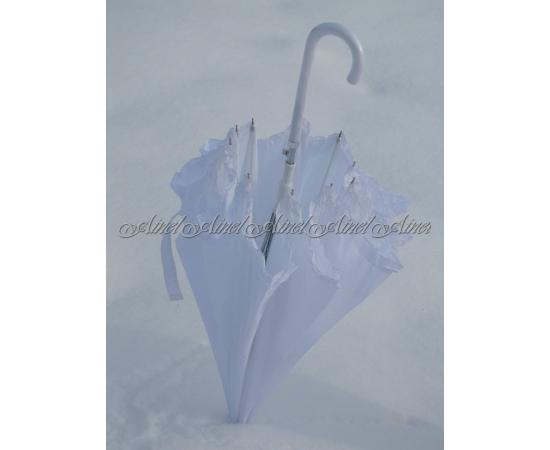 Зонт-трость №10 Белый гладкий