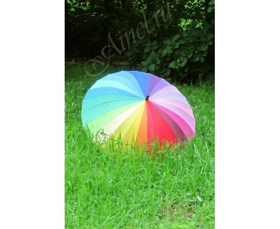 Зонт-трость №16 Радуга люкс