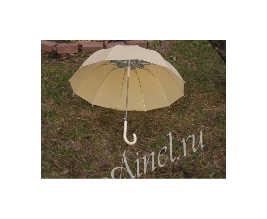 Зонт-трость №13 Айвори с цветком