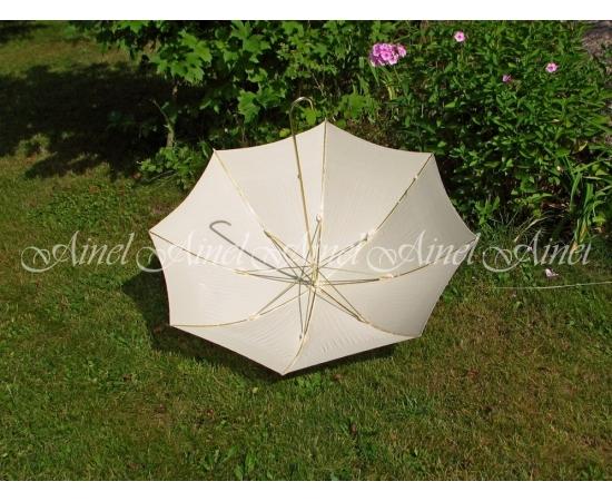 Зонт-трость №6 Айвори золото