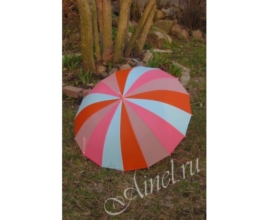 Зонт-трость №15 Радуга розовая