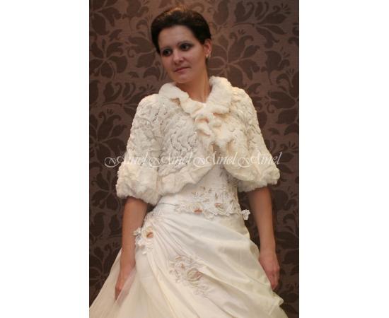 Свадебная шубка №3 для невесты в прокат