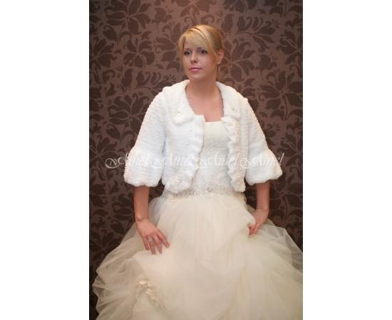 Шубка на свадьбу №14 для невесты прокат