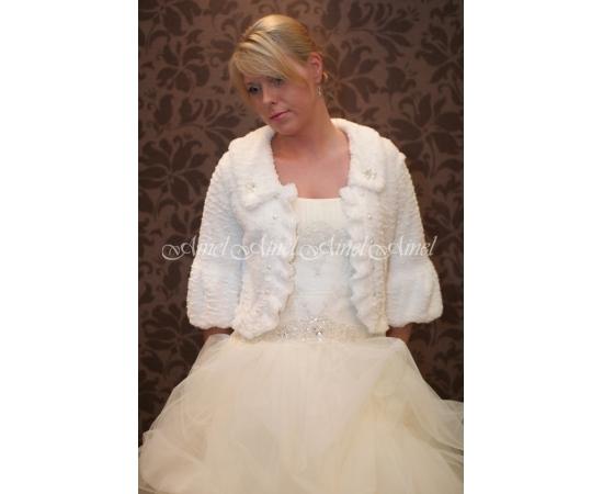 Свадебная шубка №14 для невесты прокат