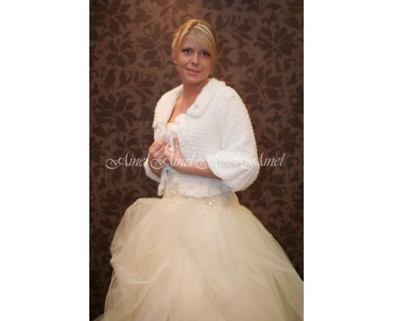 Свадебная шубка №14 для невесты в прокат