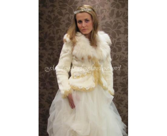 Шубка на свадьбу №40 для невесты прокат