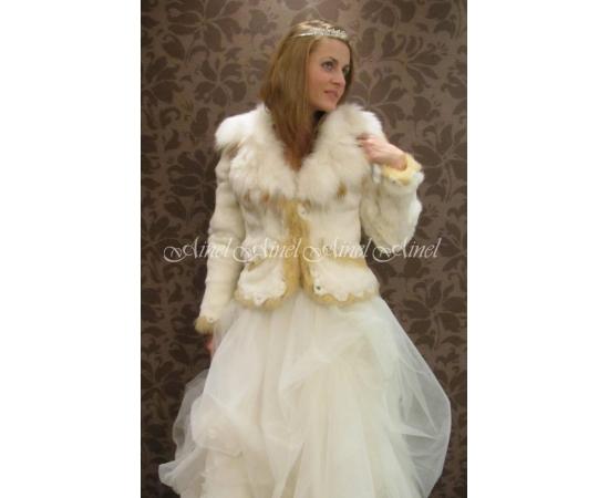 Свадебная шубка №40 для невесты в прокат
