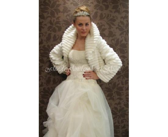 Свадебная шубка №42 для невесты прокат