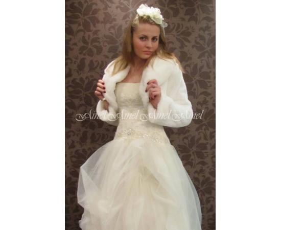 Шубка на свадьбу №44 для невесты прокат