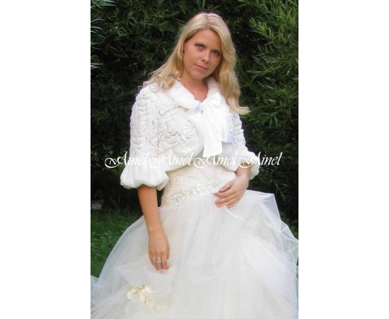 Шубка на свадьбу №45 для невесты напрокат