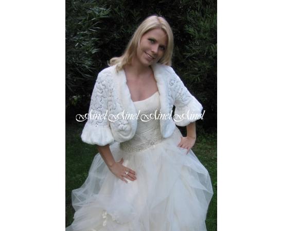 Шубка на свадьбу №45 для невесты в прокат