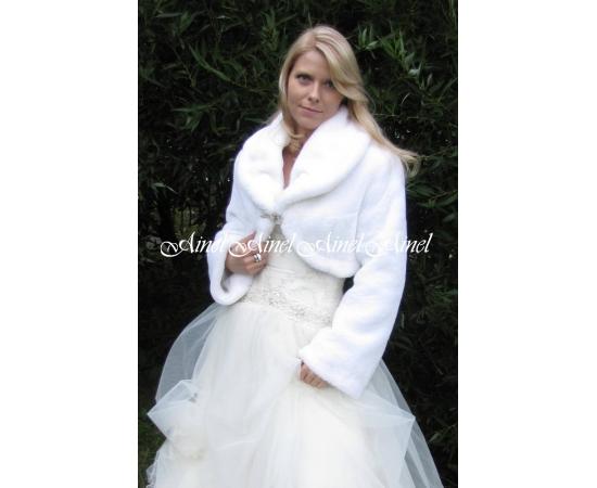 Шубка на свадьбу №49 для невесты напрокат